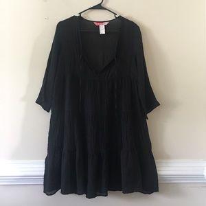 Ella Moss crushed pure cotton mid sleeve dress